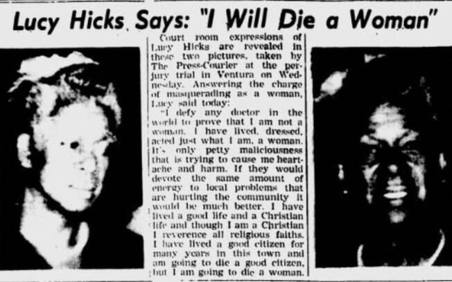 Lucy declarou publicamente que morreria mulher
