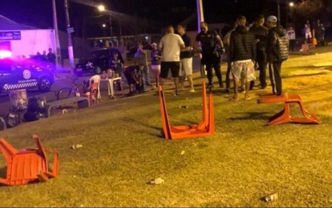 Imagens flagram conflito entre moradores e GM em Holambra
