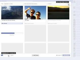 Visualização do novo recurso de compartilhamento de fotos