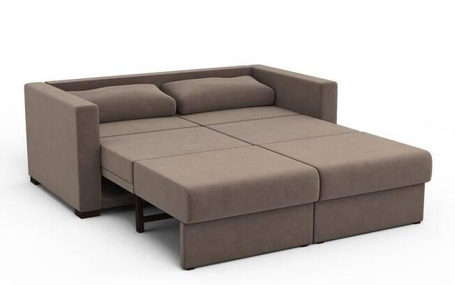 Sofás-cama são ideias para salas de TV. Espaçosos, tornam a experiência mais confortável