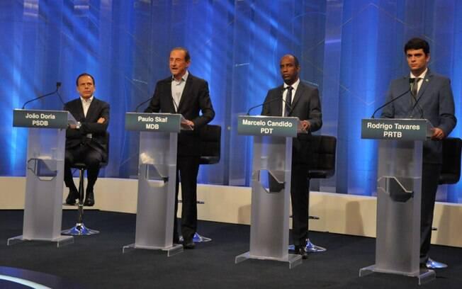 Sete candidatos a governador de São Paulo participaram do debate da RedeTV!
