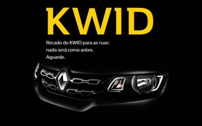 O hotsite do Renault Kwid não mostra muita coisa, apenas pede para os clientes se cadastrarem para receber mais novidades por e-mail.