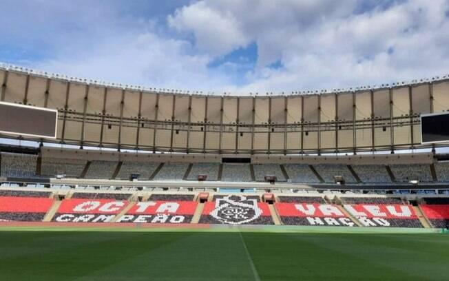Mosaico que será exibido pelo Flamengo no Maracanã