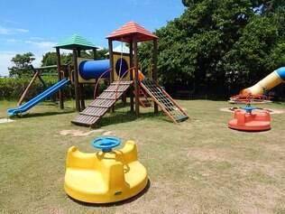 Espaço kids. O resort oferece uma ampla área de diversão para a criançada
