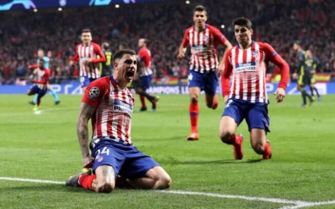 Jímenez comemora gol do Atlético de Madrid em rodada marcada pelo VAR