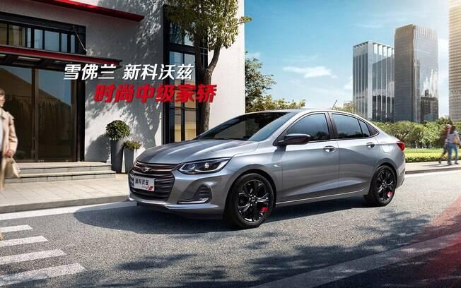 Chevrolet Prisma 2019 é revelado oficialmente no site da marca na China, onde se chama Onix Sedan
