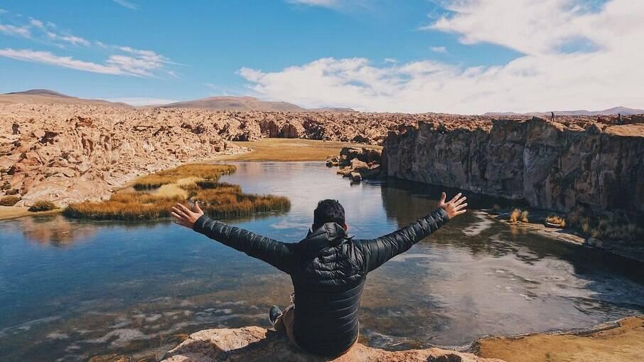 Anderson Dias em trajeto na Bolívia