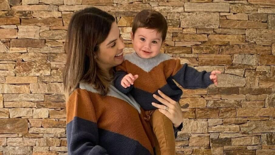 Sthefany Brito celebra 10 meses do filho, Antonio Enrico