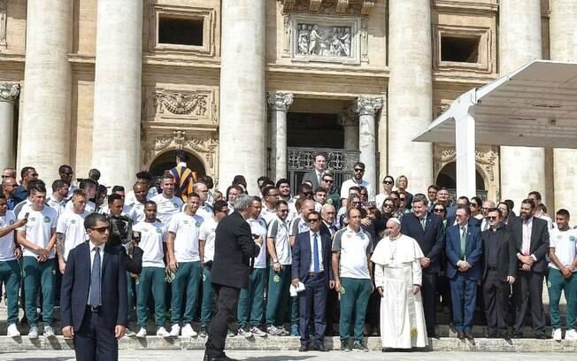 Chapecoense com o papa Francisco