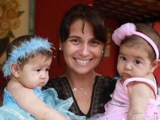 Giovanna Antonelli com as filhas