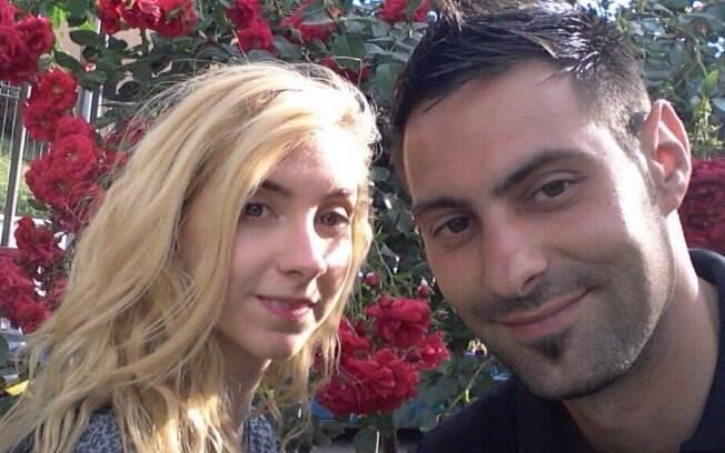 Sara de Pietrantonio ao lado de Vicenzo Paduano: namoro de dois anos encerrado em tragédia