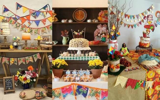 Se tem uma coisa que não pode faltar na sua decoração de Festa Junina são muitas cores – e, claro, comida gostosa