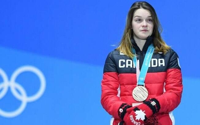 Patinadora Kim Boutin herdou medalha de bronze nos Jogos de Inverno e vem sofrendo com isso