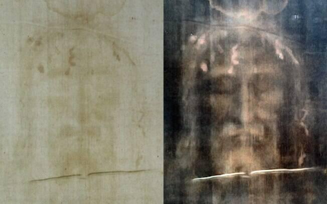 Imagem do Sudário de Turim, conhecido como o Santo Sudário, que mostraria imagem de Cristo