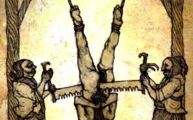 A Serra: com as pernas suspensas, acusado tinha o corpo serrado até a morte