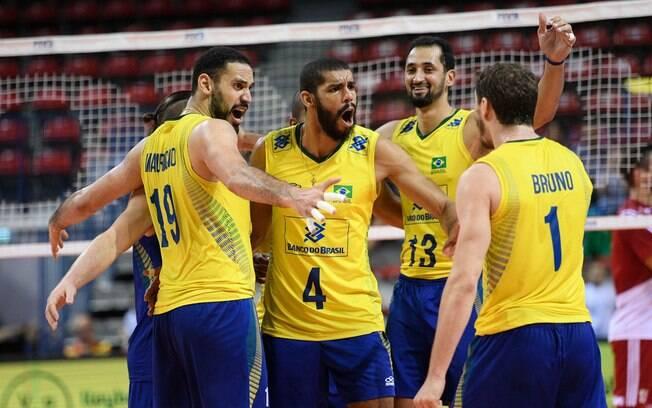 Brasil venceu a Polônia por 3 sets a 0 pela Liga Mundial
