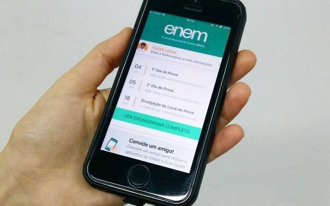 Aplicativo oficial do Enem está disponível para estudantes com smartphones iOS e Android