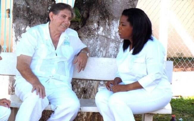 João de Deus em entrevista com Oprah Winfrey em 2012