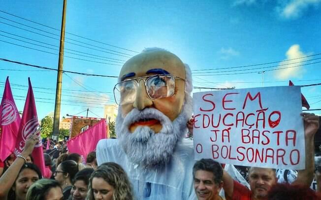 Ato em defesa da educação pública em 2019, no Recife.