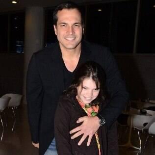 Daniel Boaventura e a filha, Joana, na pré-estreia de 'Billy Elliot'