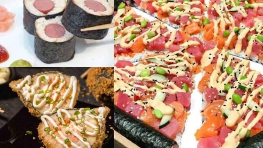 Comidas japonesas-brasileiras