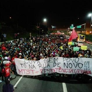 Protesto do MTST em junho: 12 mil em SP