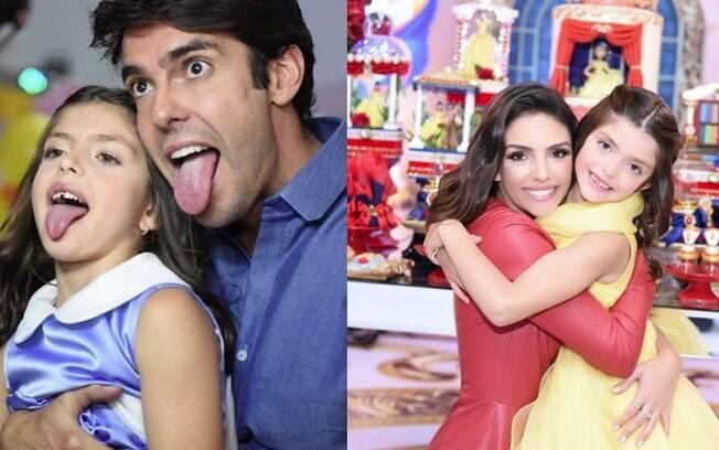 Festa infantil de Isabella não contou apenas com as celebridades Kaká e Carol Celico, mas teve ainda a própria Bela e até a Fera