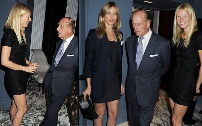 Gwyneth Paltrow e Cameron Diaz badalaram com o Príncipe Philip