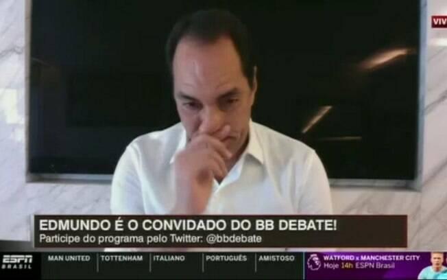 Edmundo chorou ao vivo ao relembrar acidente