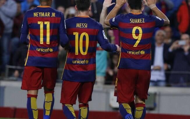 Trio MSN Neymar Messi Suárez