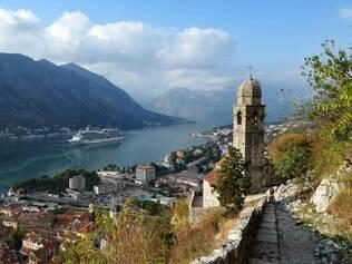 Vista de Kotor a partir das muralhas