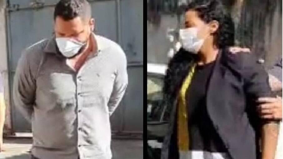 Felipe Pereira Alves e Maria Luísa Santos de Azevedo no momento em que foram presos