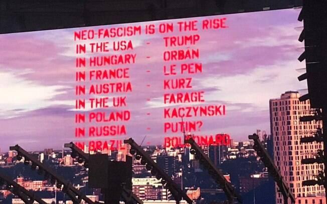 Shows de Roger Waters no  Brasil são marcados por protestos políticos