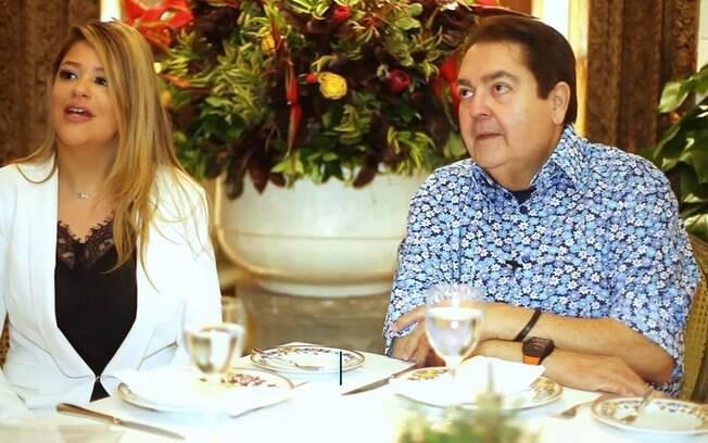 Fausto Silva e Mariaa Cavalcante, filha de Tom Cavalcante