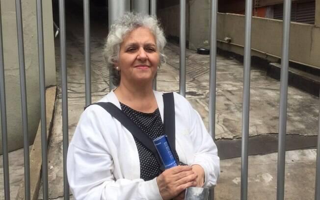 Ana Paulino, de 58 anos, veio acompanhar a filha, Mikaella, que está fazendo o Enem pela primeira vez. . Foto: Laís Martins/iG São Paulo