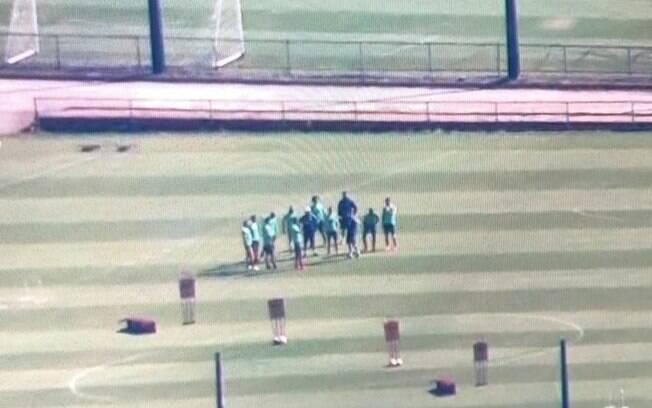 Flamengo treinou em campo mesmo sem autorização