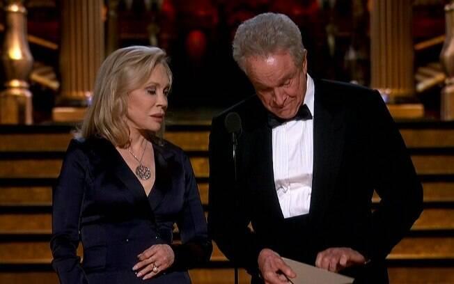 Warren Beatty e Faye Dunaway retornaram ao Oscar para apresentar o melhor filme. Sem constrangimentos em 2018