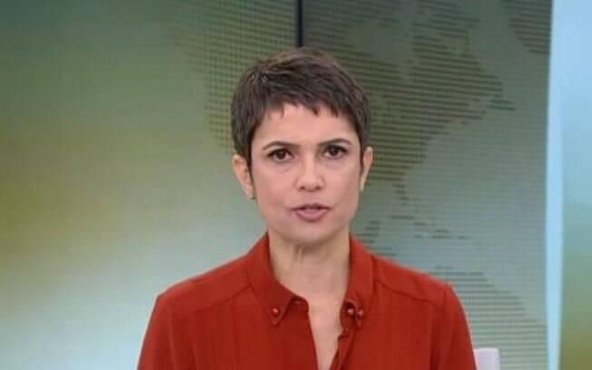 """Sandra Annenberg cometeu uma gafe e tanto ao vivo no """"Jornal Hoje"""""""