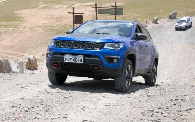 Embora vá ser utilizado muito mais nas ruas do que nas trilhas, o Compass tem o DNA da Jeep e encara qualquer terreno.