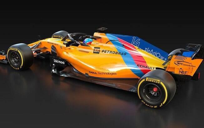A McLaren especial feita para a última corrida do bicampeão mundial Fernando Alonso na Fórmula 1