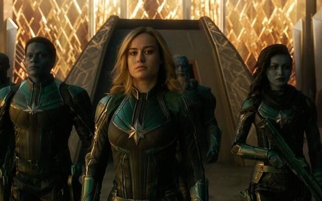 Brie Larsson em cena de Capitã Marvel