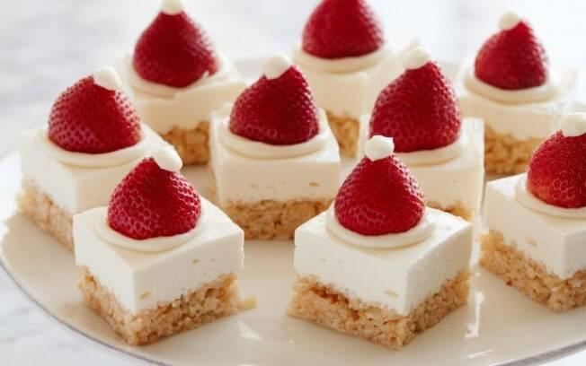 O cheesecake é uma sobremesa que possui um sabor leve, não é muito doce e nem enjoativa