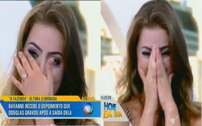 Rayanne Morais chora no Hoje em Dia
