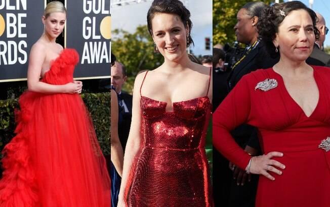 Lili Reinhart, Phoebe Waller-Bridge e Alex Borstein são algumas das famosas que usaram vermelho no Globo de Ouro