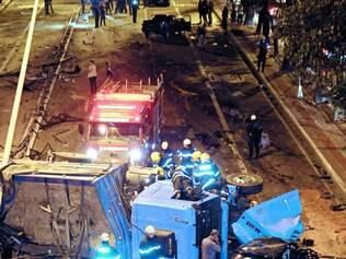Tragédia. Acidente na Nossa Senhora do Carmo, em 2012, é exemplo da violência no trânsito de BH