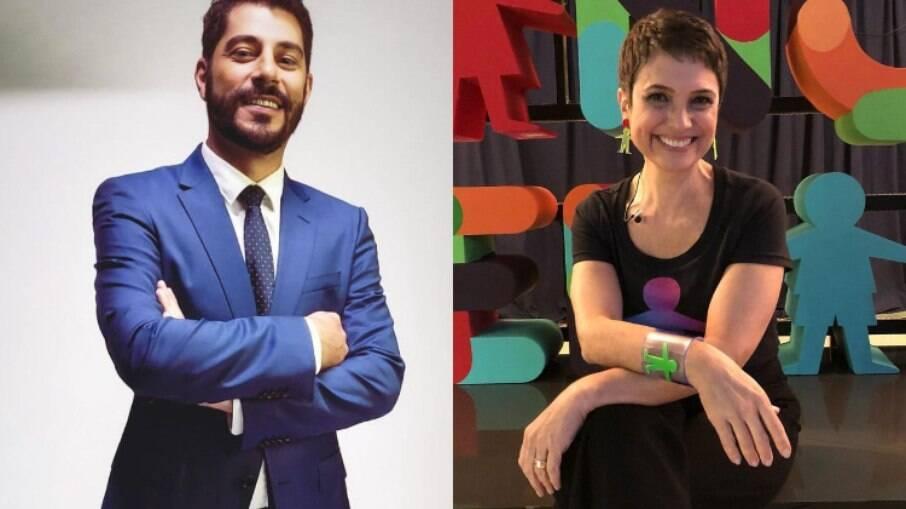 Evaristo Costa relembra bancada com Sandra Annenberg: 'Me deve uma vuvuzela'