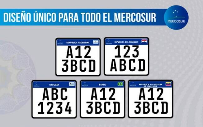 Novo padrão de placas para motos para todo o Mercosul.