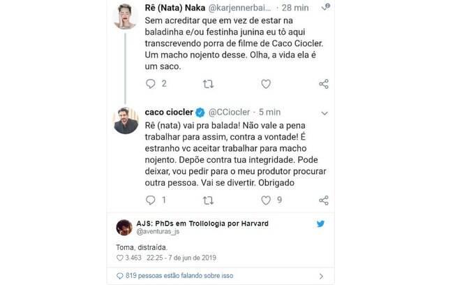 Caco Ciocler respondeu suposta funcionária