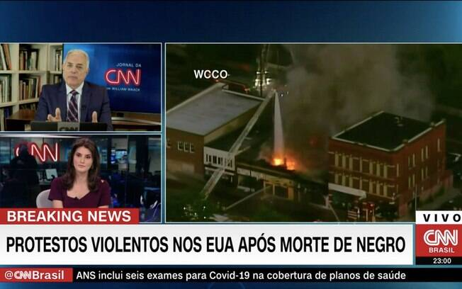 William Waack comenta protestos antirracistas na CNN Brasil