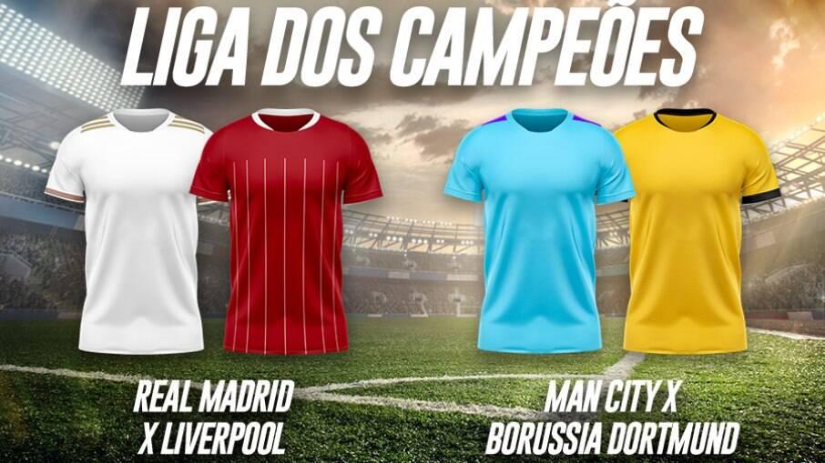 Champions league tem a rodada inicial das quartas de final